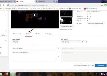 Hướng dẫn làm một video có nhiều ngôn ngữ tại tiêu đề và mô tả trên Youtube.
