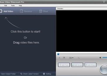 Đóng dấu logo bằng phần mềm Aoao Video Watermark Pro 5.2