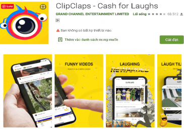 Make money online on your smartphone from the ClipClaps app